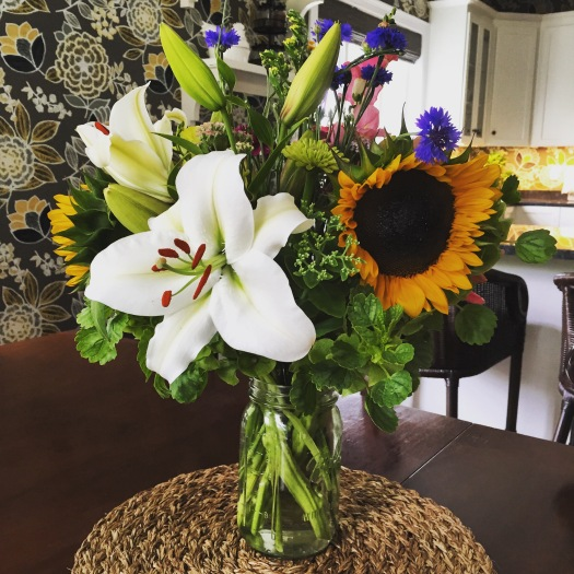 Something about fresh farmer's market flowers